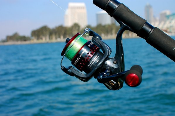 shimano stradic ci4+ assembled on fishing rod