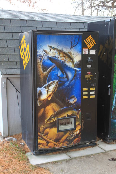 fishing tips vending machine made for live fishing bait