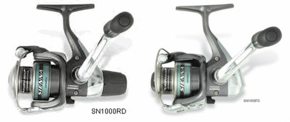 side by side comparison of Shimano Sienna rear and front drag version