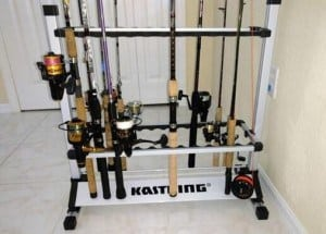 Fishing Rod Rack on display