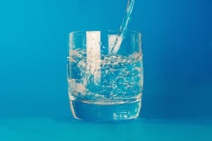 glass of warm water